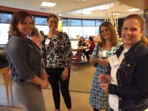 4 ladies at reception